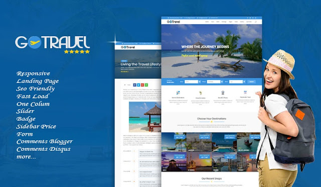 Go Travel Responsive Blogger Template