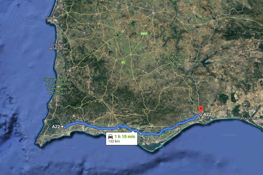 Peaje Algarve A-22