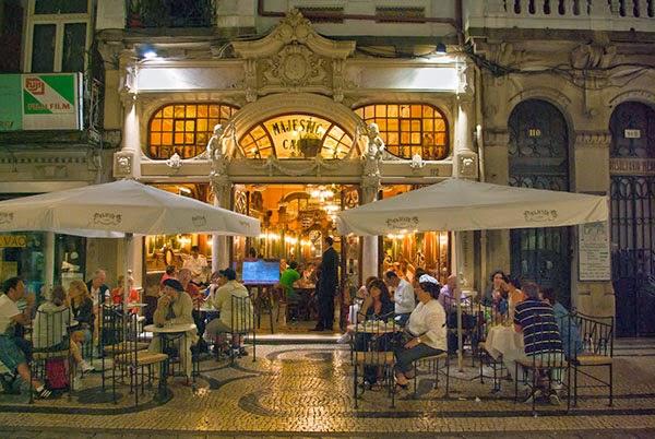 Exterior Café Majestic de Oporto