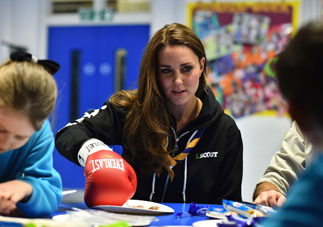 Kate Middleton visited the 23rd Poplar Beaver Scout School