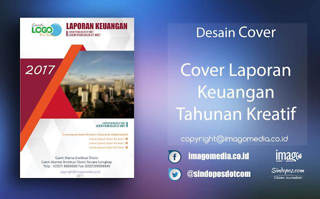 Download Template Desain Cover Laporan Keuangan Tahunan Kreatif