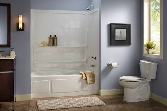 New home designs latest small modern bathrooms designs for Small bathroom design without tub