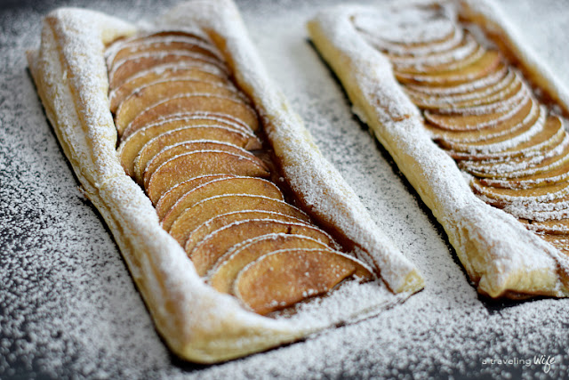 Four-Ingredient 20-Minute Apple Tart | recipe | dessert | http://www.atravelingwife.com