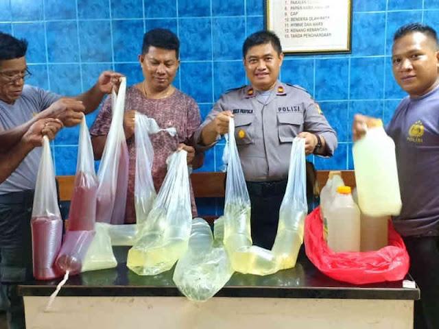 Polisi Gagalkan Penyeludupan Ratusan Liter Sopi dari Ambon ke Jayapura