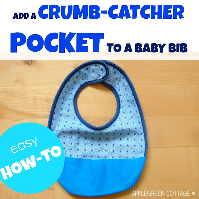 how to add a crumb catcher pocket to a bib