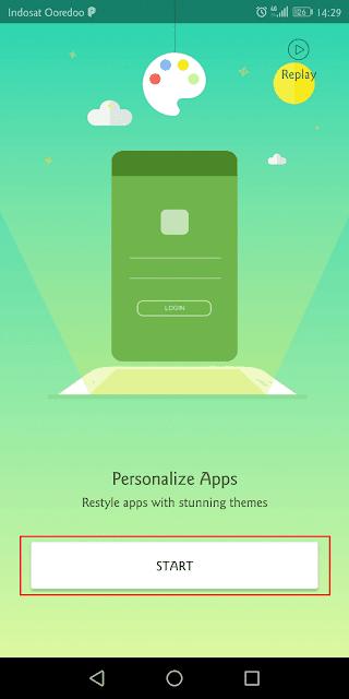 memulai parallel space yang baru saja di-instal