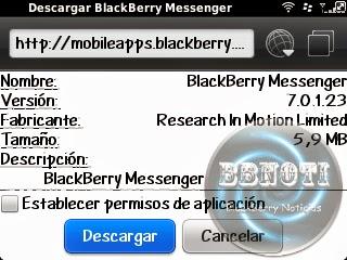 blackberry messenger 7.0.1.23