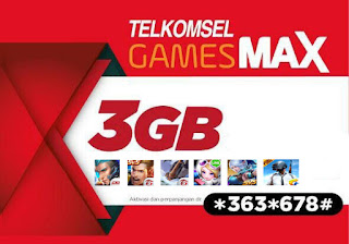 Cara Beli Paket Game Telkomsel GamesMAX