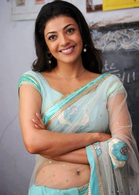 Unseen Hot Spicy Kajal Agarwal Saree Pic-9629