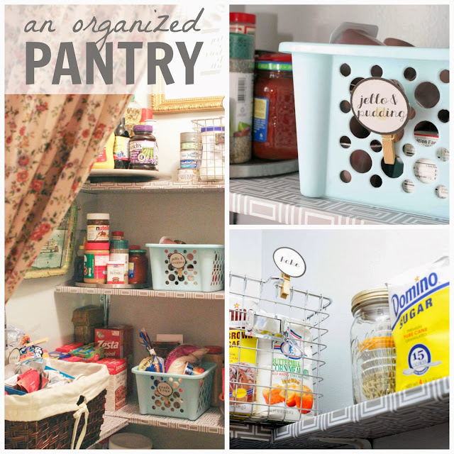 9 Tips For A Perfectly Organized Pantry: Craftivity Designs: 8-Week Organizing Challenge // Kitchen