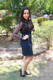 Actress Aanchal Stills in Blue Short Dress at Sei Movie Launch 0020.jpg