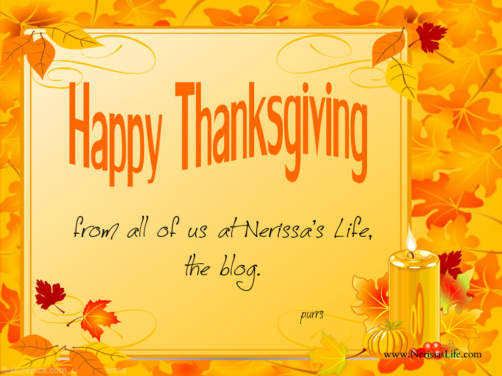 Nerissas Life Happy Thanksgiving