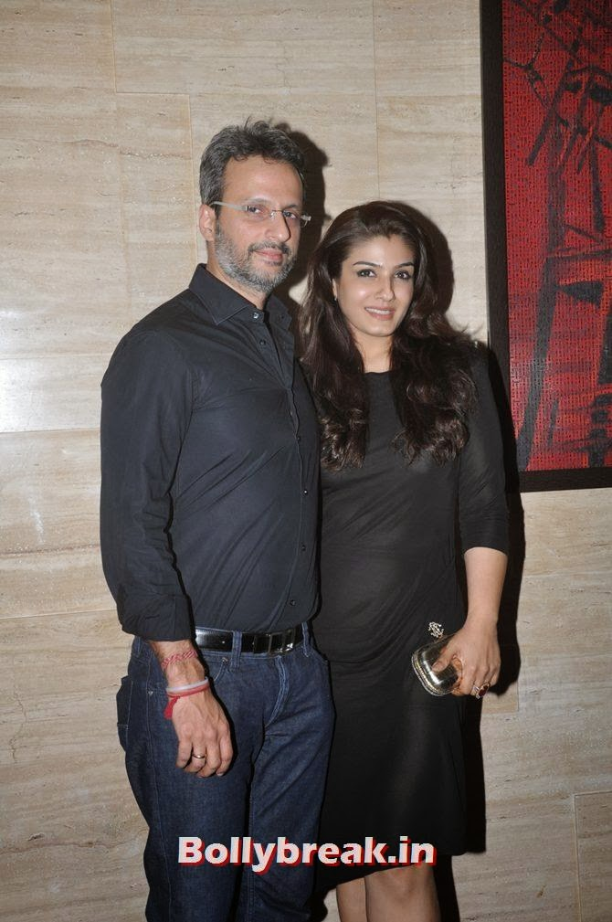 Raveena Tandon with Anil Thadani, Bollywood Stars Attend Asin's birthday bash