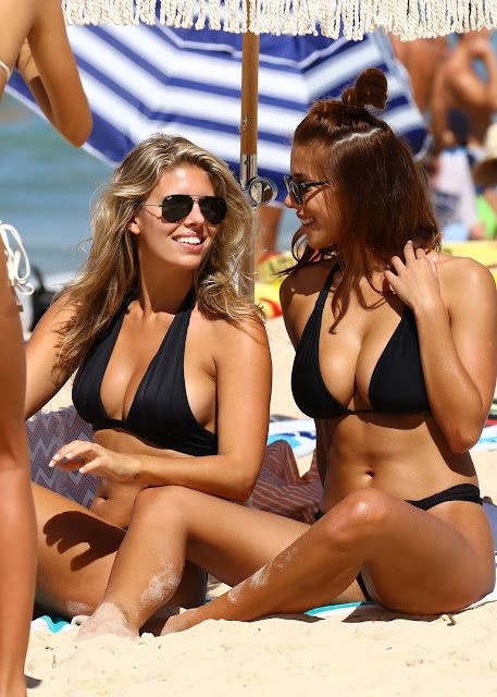 Natasha Oakley and Devin Brugman in Black Bikinis