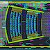 مخطط مسقط علوي لقاعة عرض اوتوكاد dwg