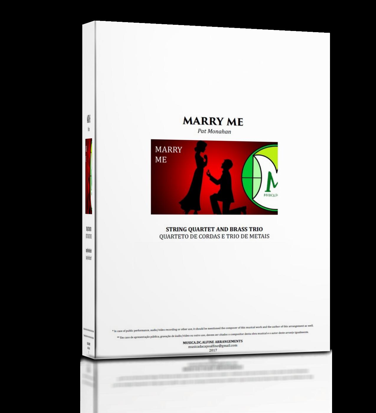 MUSICA.DC.ALFINE ARRANGEMENTS: Marry Me | Train | String ...