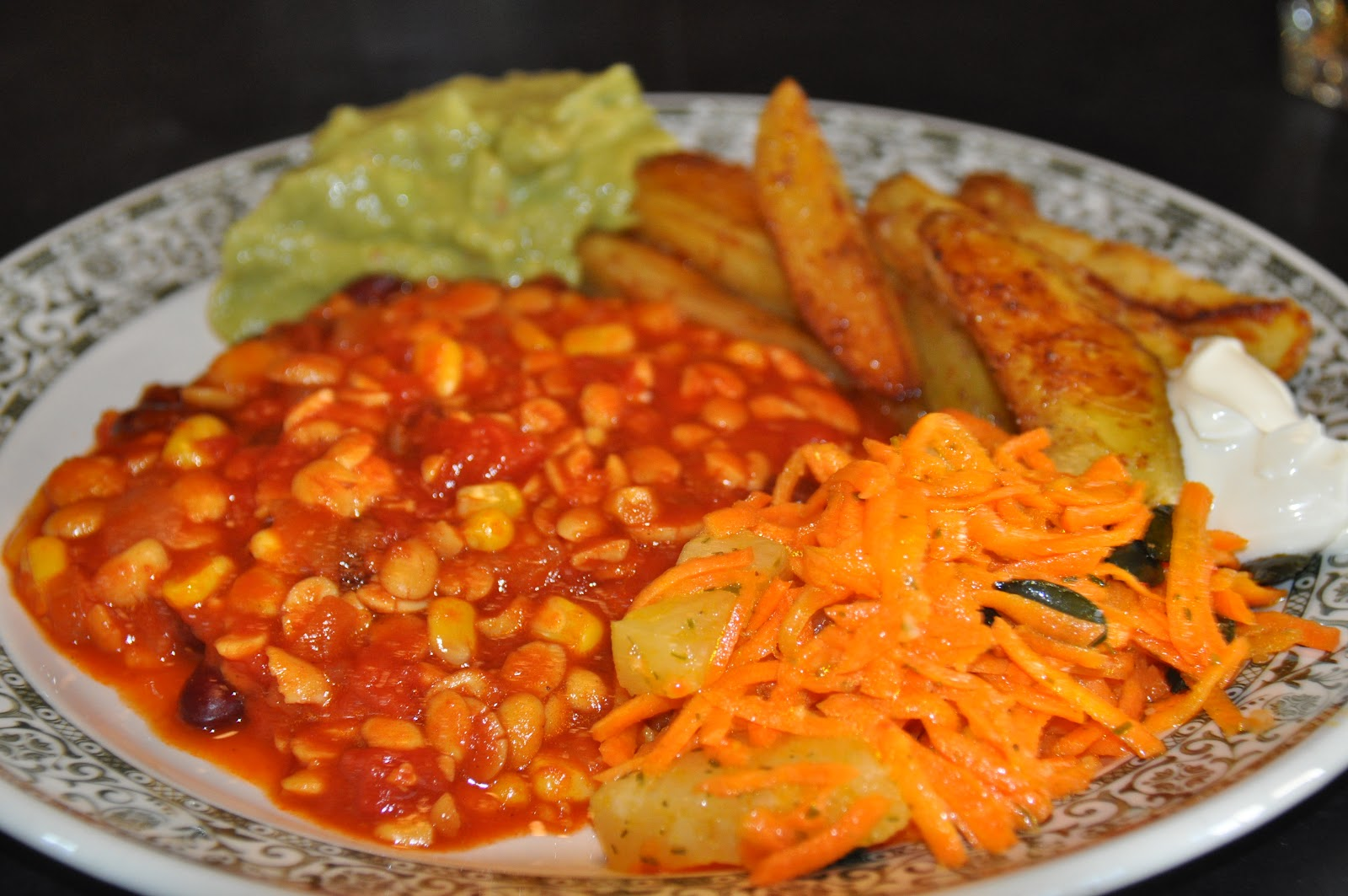 mexican potatoes mit chili sin carne ro h rspatz lager 2012. Black Bedroom Furniture Sets. Home Design Ideas