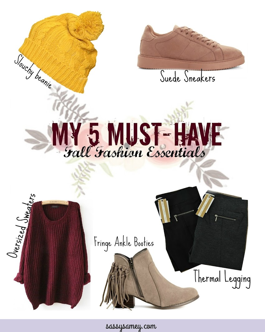 My 5 Must-Have Fall Fashion Essentials