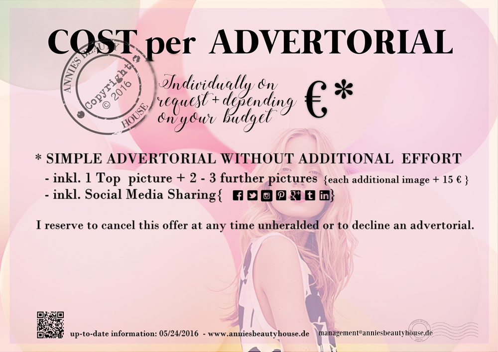 MEDIAKIT Cost per Advertorial