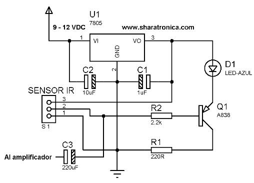 Probador de control remoto circuito.