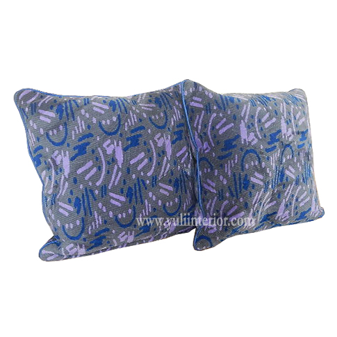 Purple Throw Pillow with Lipcord Finish and Fiber Filling Nigeria