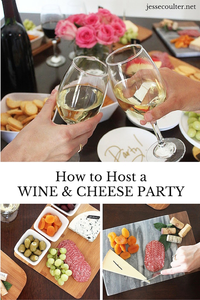 Wine and Cheese Party, Party planning, girls night out, moms night out, hosting a party, party planning, cheese plate, how to host a party
