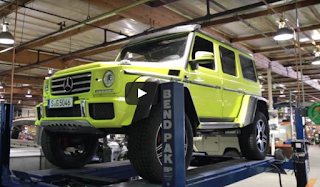 This is why this car Mercedes G500 4x4² real monster Tyres
