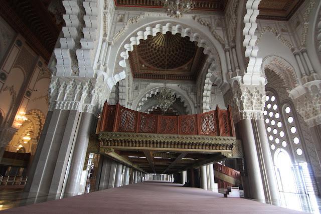 Casablanca, Marruecos, Gran Mezquita, Hassan II, blog de viajes, sala de Oración
