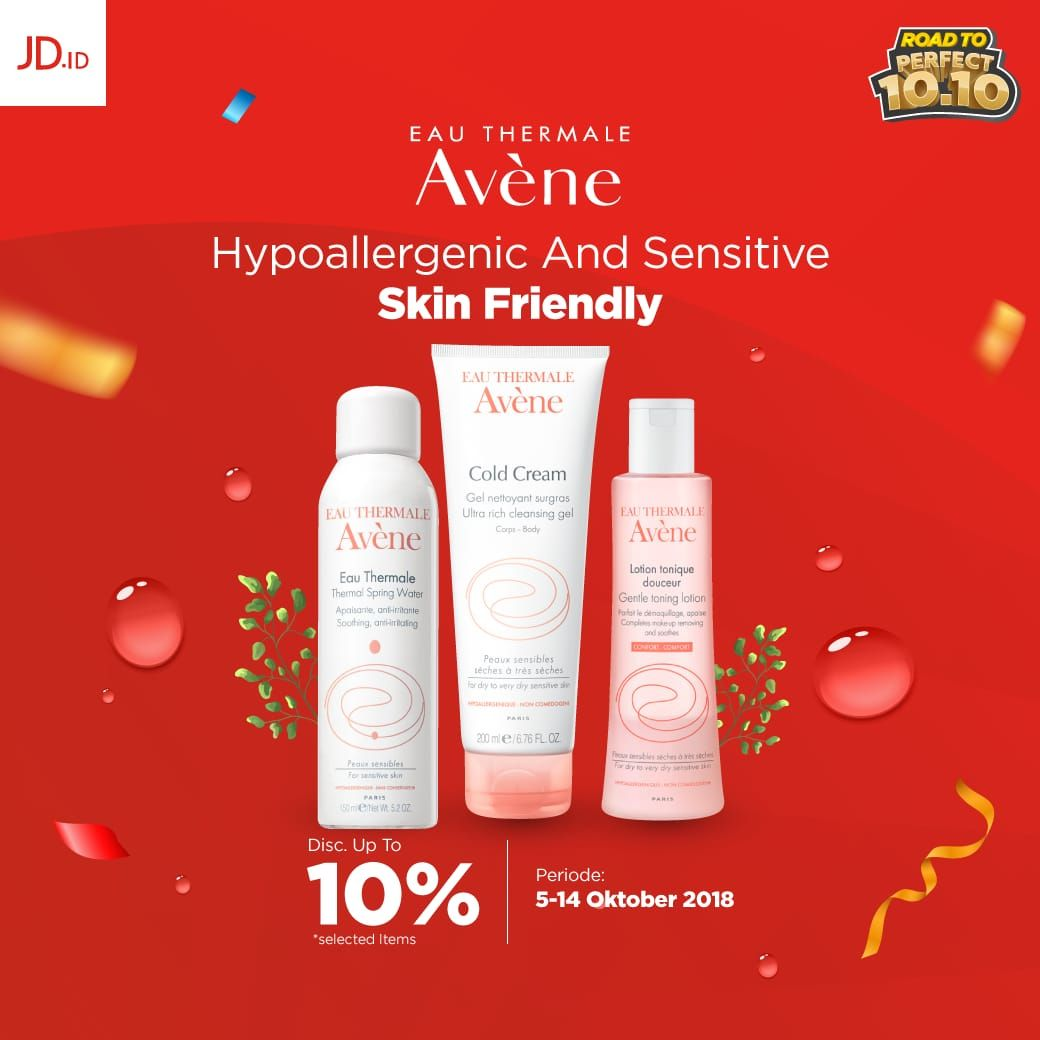 JDID - Promo Diskon s.d 10% Produk Avene Skin Friendly (05 - 07 Okt 2018)