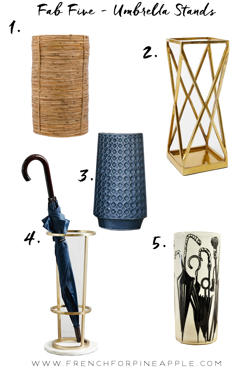 Fab Five Umbrella Stands - French For Pineapple Blog