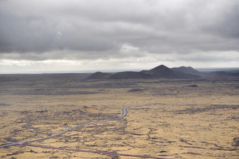 Vue panoramique sur la péninsule de Reykjanes en Islande