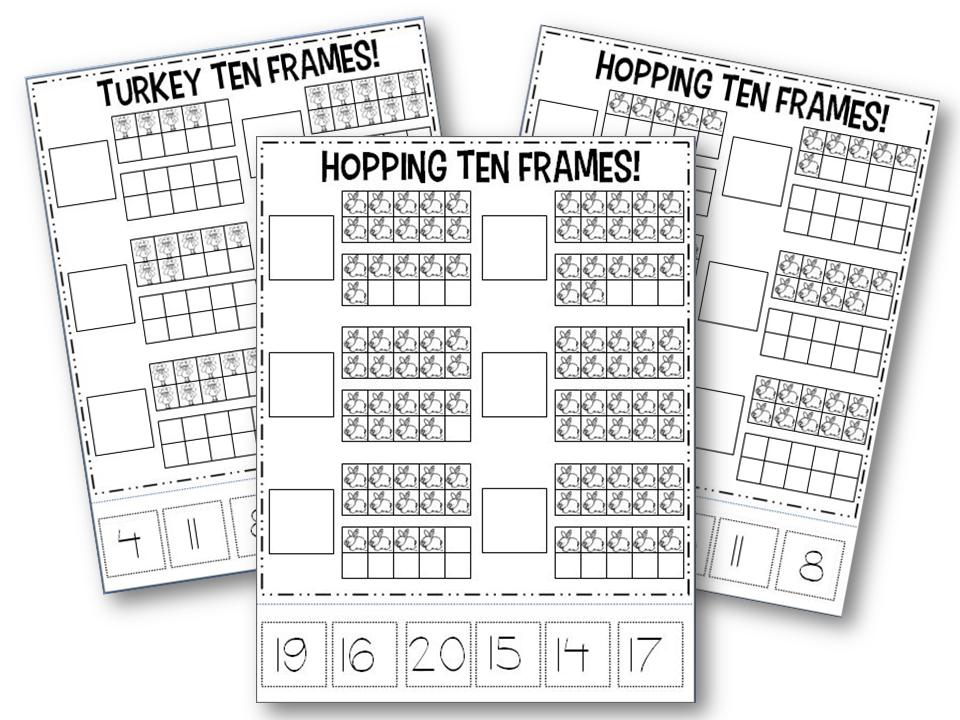 Comfortable Free Ten Frame Addition Worksheets For Kindergarten