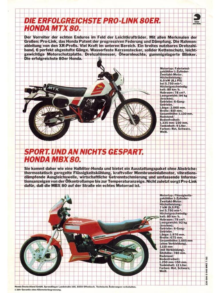 Honda MBX80 : brochures