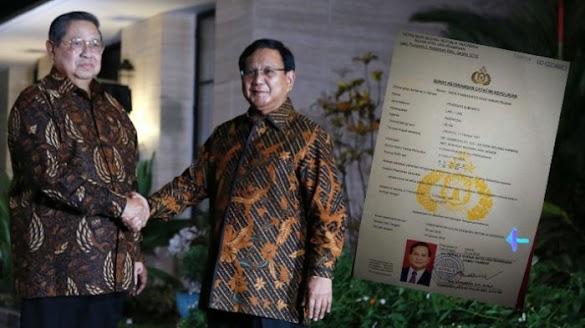 Beredar Foto SKCK Prabowo untuk Nyapres, Ini Penjelasan Gerindra
