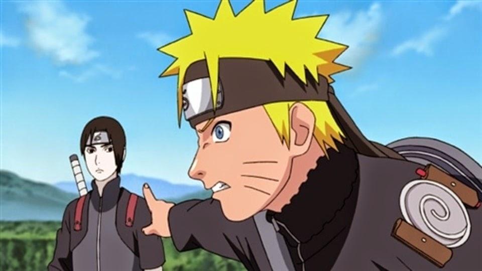 Naruto discute con Sai