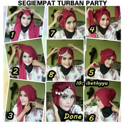 Tutorial Hijab Segitiga Modern untuk Lebaran