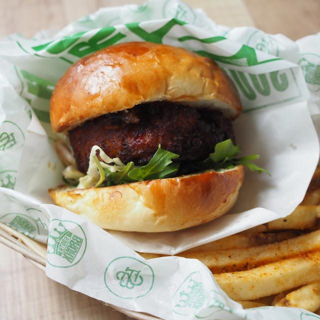 Crab Burger with Yuzu Coleslaw price $24