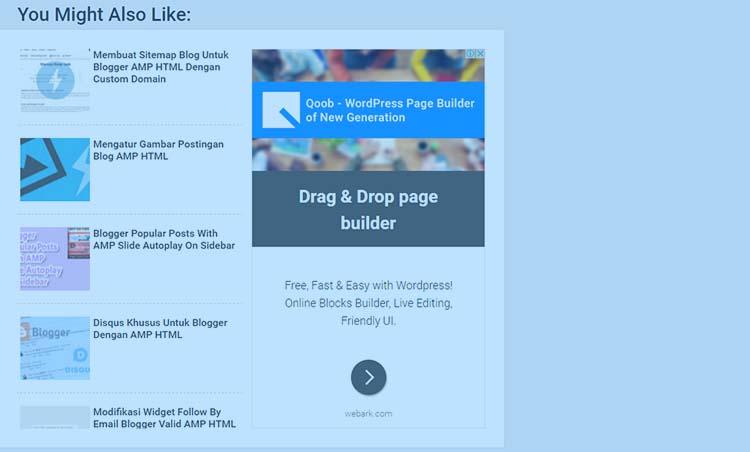 Membuat Related Posts Berdampingan Dengan Adsense Di Blogger AMP HTML