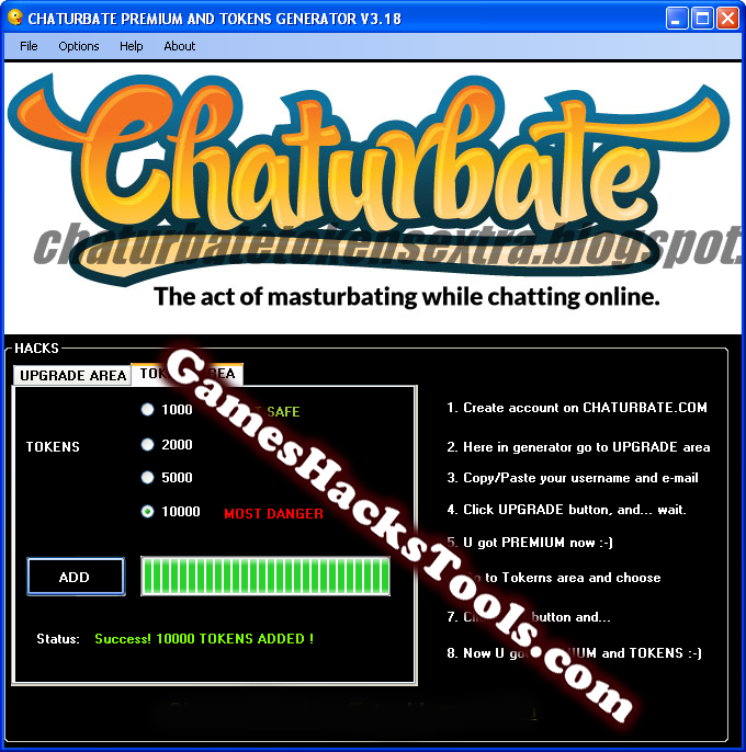 Chaterbate tokens