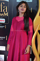 Monal Gajjar in Maroon Gown Stunning Cute Beauty at IIFA Utsavam Awards 2017 004.JPG