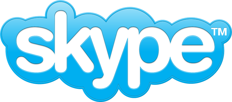 Old Skype logo in white and blue