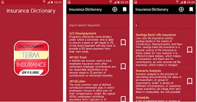 Insurance Dictionary App