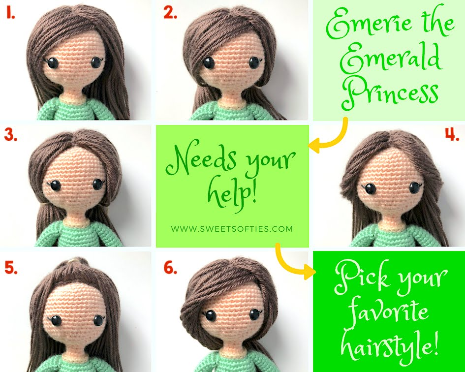 How to Add Hair to Crochet Dolls - All About Ami | 756x945