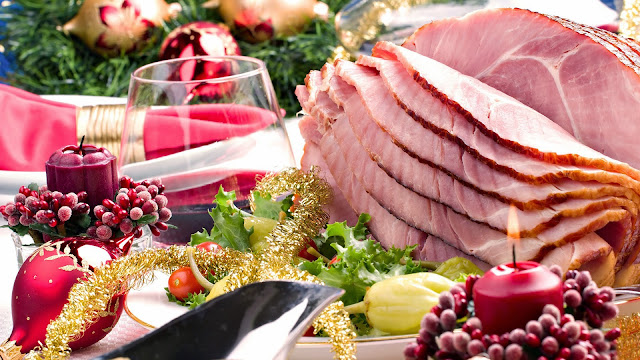 Party Time Christmas Food Wallpaper