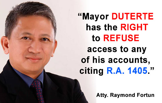 Former Lawyer of ERAP, citing R.A. 1405: 'Duterte has the right to refuse'