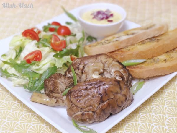 Телешки мозък със сос от горчица