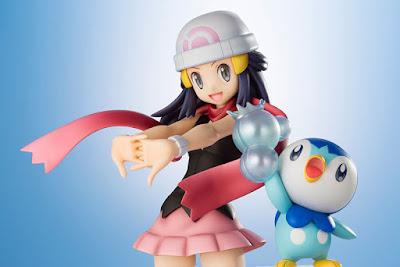 Figuras: Imágenes del ArtfxJ de Dawn y Piplup de Pokemon - Kotobukiya