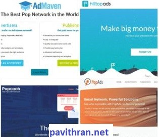 Top 10 ad networks with minimum Payout Threshold & Maximum CPM Rates