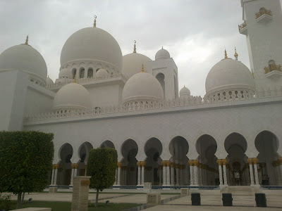 Shaikh Zayed Bin Sultan Al Nahyan Mosque closeup
