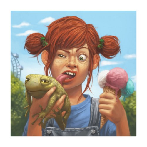 Toad Ice-cream Whoopsy Daisy | Funny Art Canvas